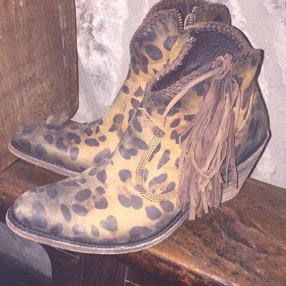 liberty black leopard boots